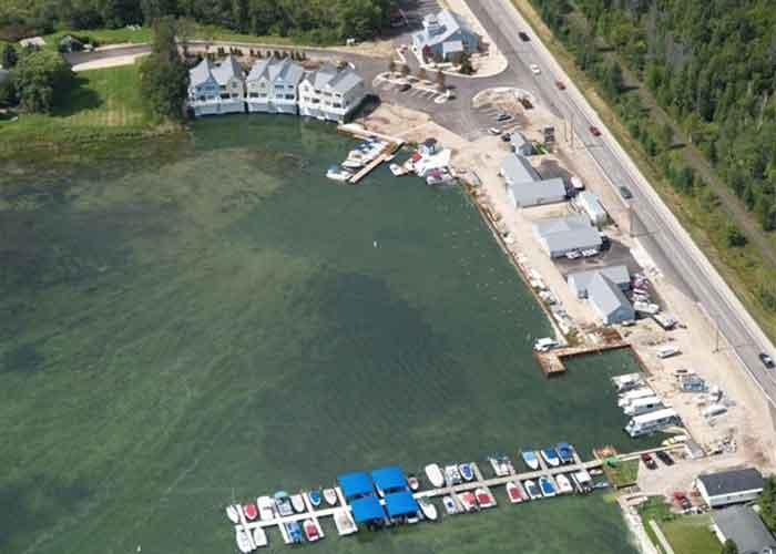 windjammer marina aerial view
