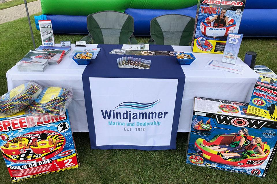 windjammer marina store display tables